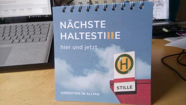 HalteStille - ein Beitrag zur Zeit für Freiräume