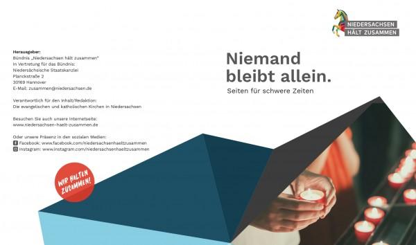 """Broschüre """"Niemand bleibt allein"""""""
