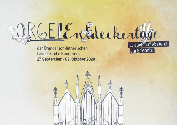 Orgelentdeckertage 2020 A6 Postkarte
