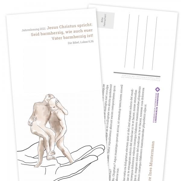 Postkarte Jahreslosung Hochformat