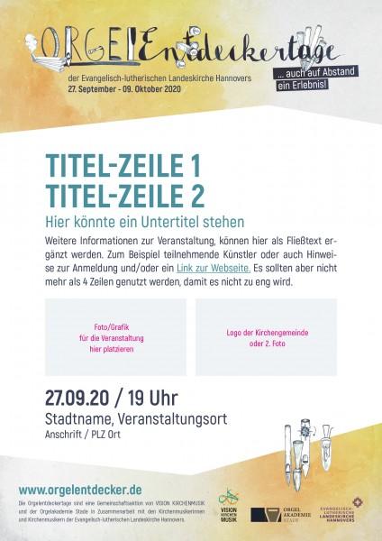 Orgelentdeckertage 2020 - A3 Poster