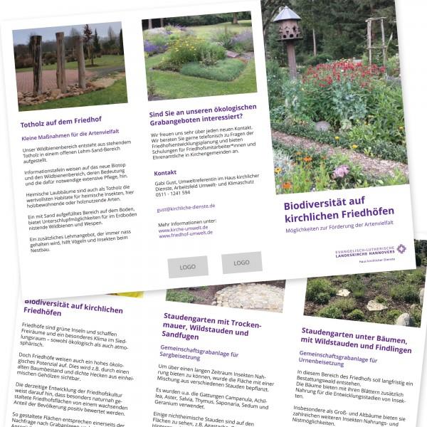Themenflyer Friedhof - Biodiversität